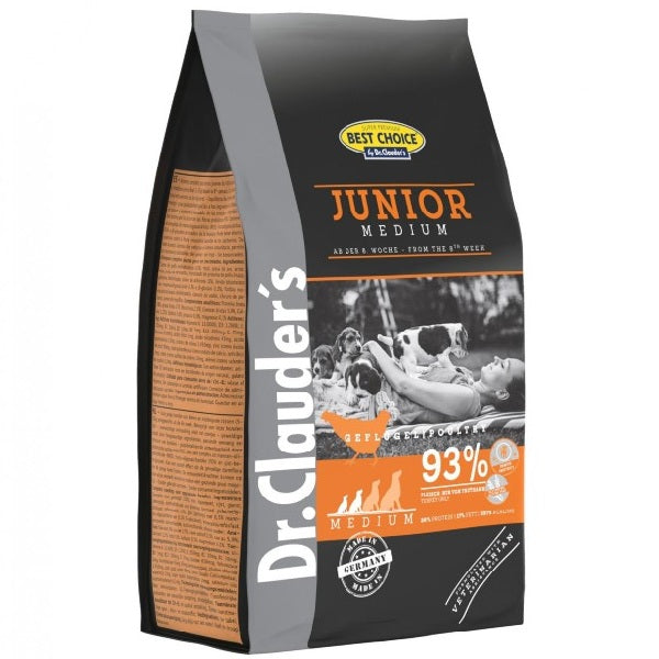 Dr. Clauder's BEST CHOICE JUNIOR SMALL/MEDIUM ΚΟΤΟΠΟΥΛΟ 12.5kg