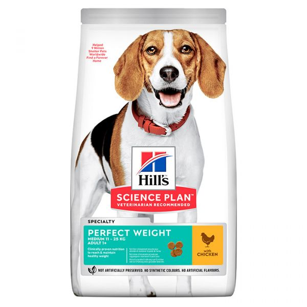 HILL'S SCIENCE PLAN ADULT DOG PERFECT WEIGHT MEDIUM ΜΕ ΚΟΤΟΠΟΥΛΟ 2kg