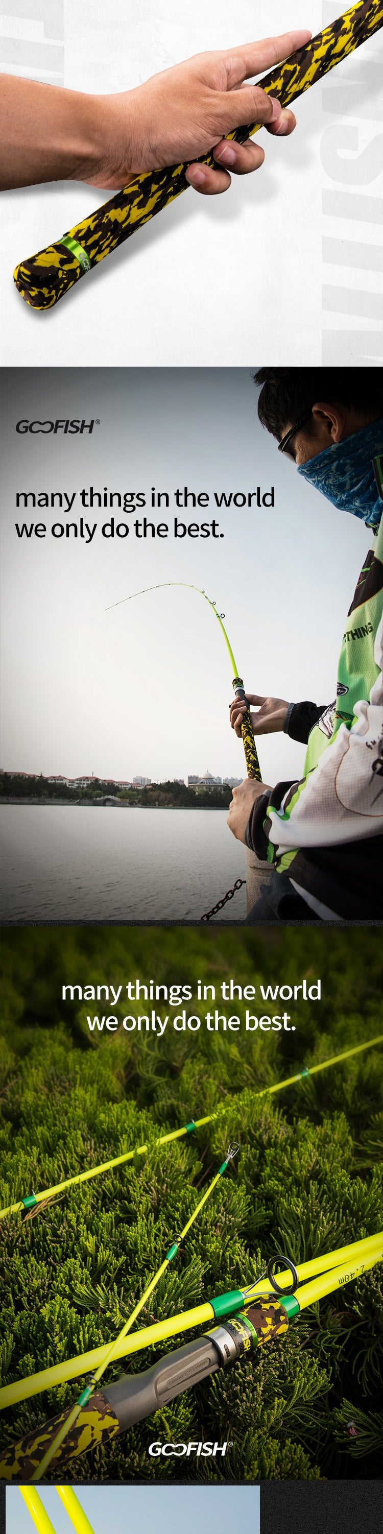 goofish solid nano tip bass fishing rod