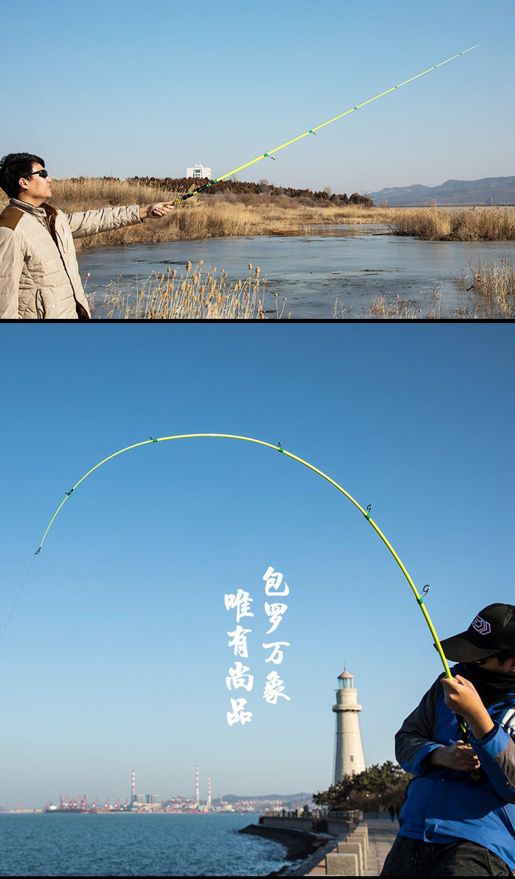 goofish telescopic travel small mini collapsed portable fishing rod
