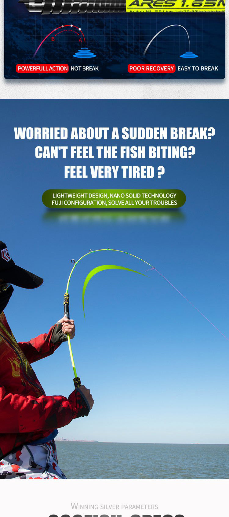 goofish solid nano tech jigging fishing rod