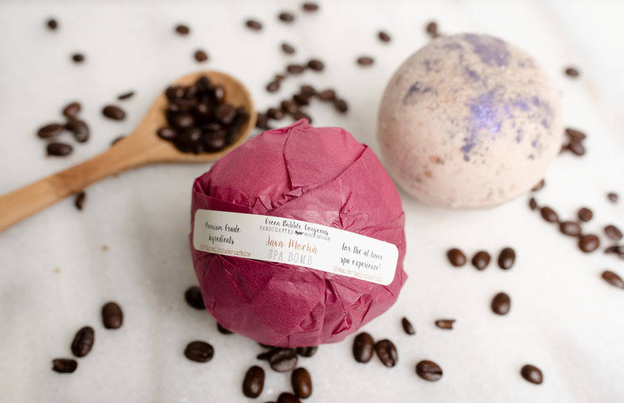 Spa Bath Bomb - Java Mocha, Smoothing Bath Fizzie