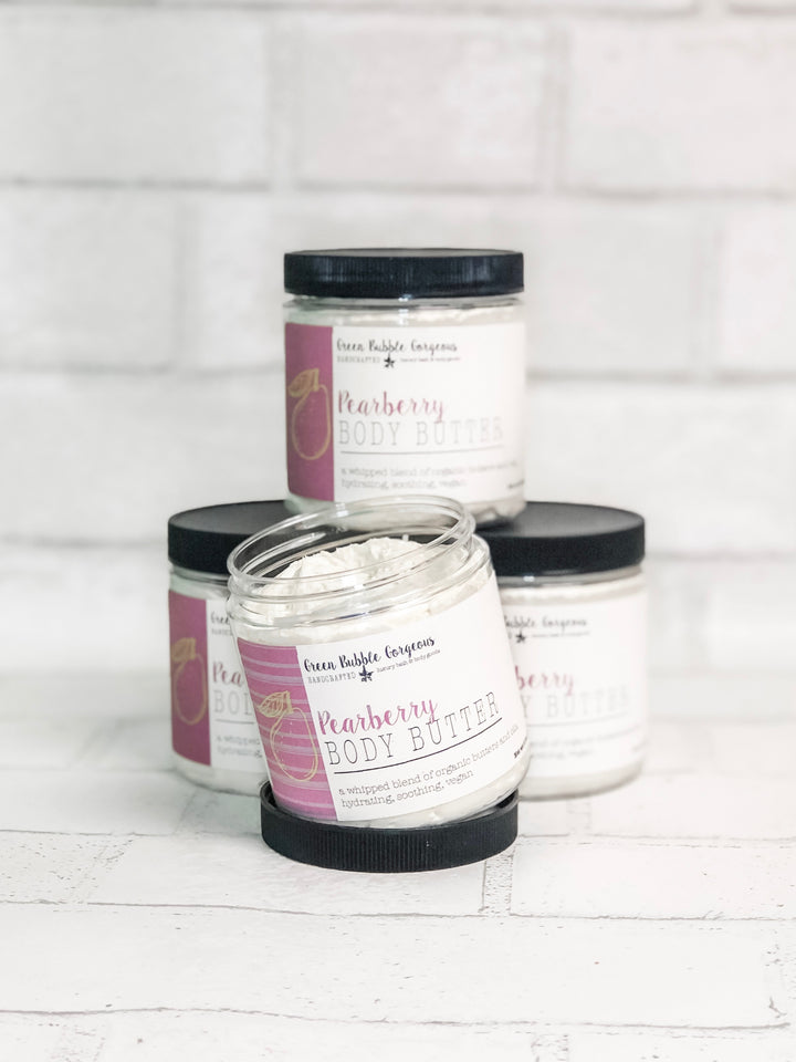 pearberry body butter, natural body butter, whipped body butter