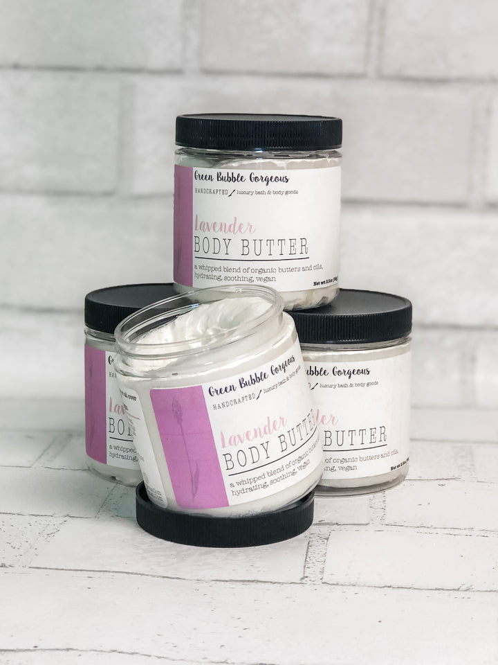 lavender whipped body butter, lavender body butter, whipped shea body butter