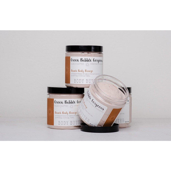 Whipped Body Butter, Natural Body Cream, Bronzing with Organic Shea and Coconut Oil