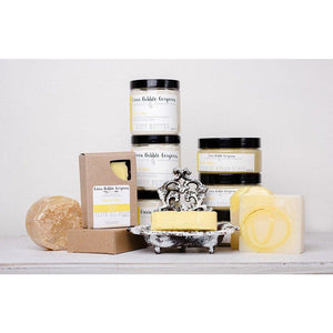 Natural Sugar Scrub, Lemon Cake, with Organic Shea Butter