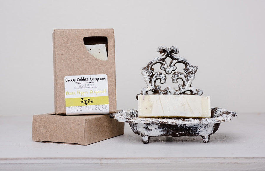 Vegan Olive Oil Soap - Bergamot and Black Pepper