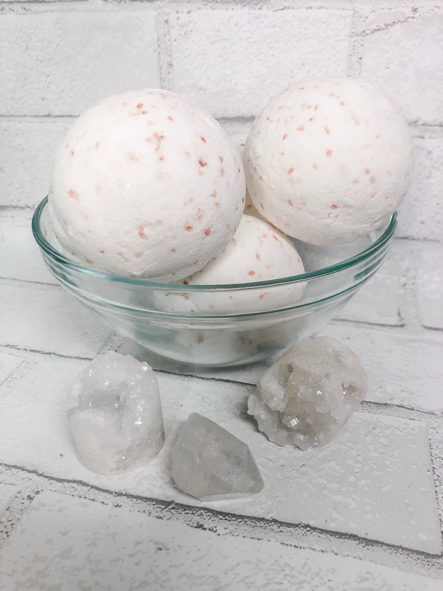 Energy Crystal Bath Bomb, Essential Oil Bath Fizz