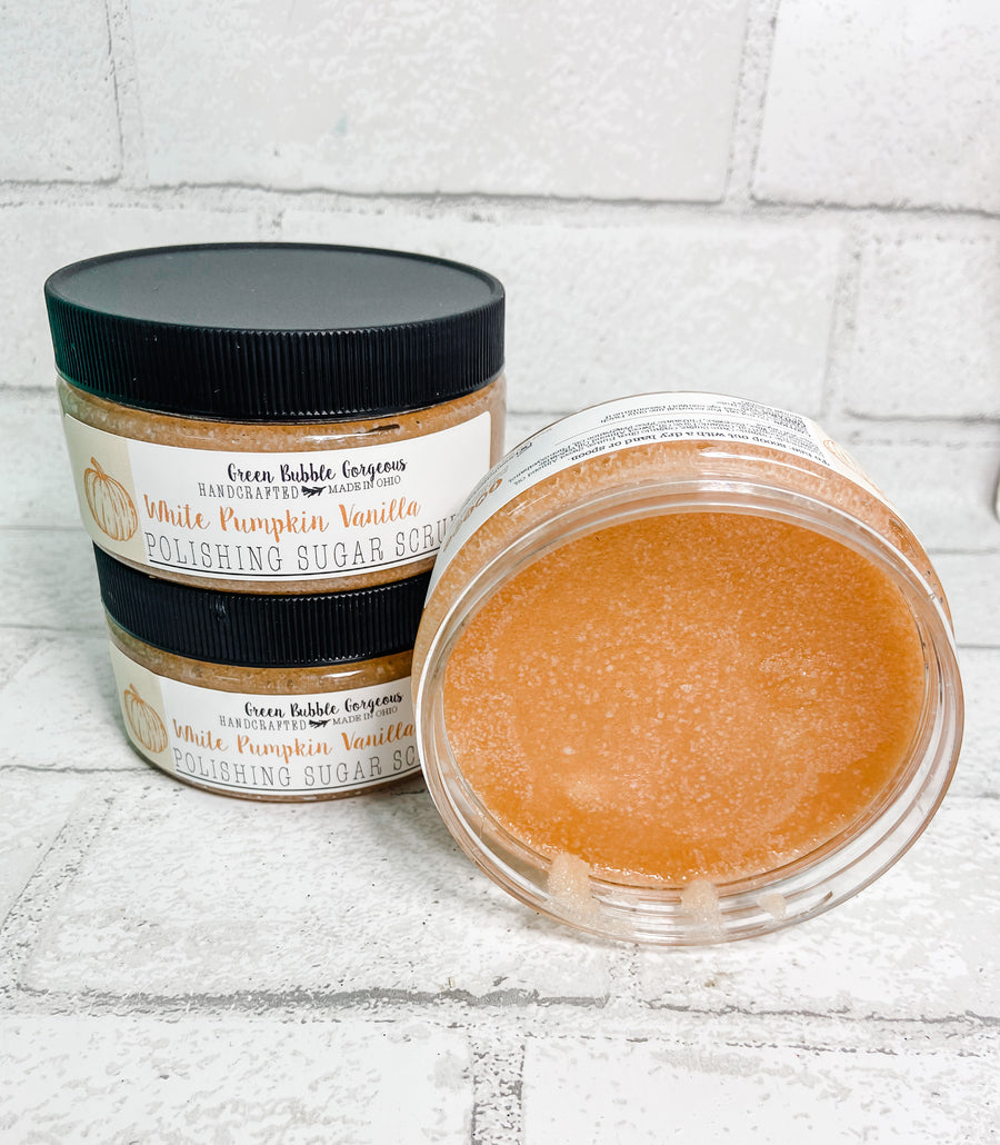 Natural Sugar Scrub- White Pumpkin Vanilla