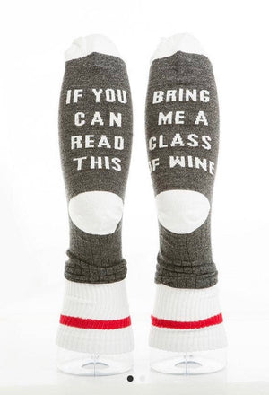 Cozy Socks- Get Me a Glass Of Wine