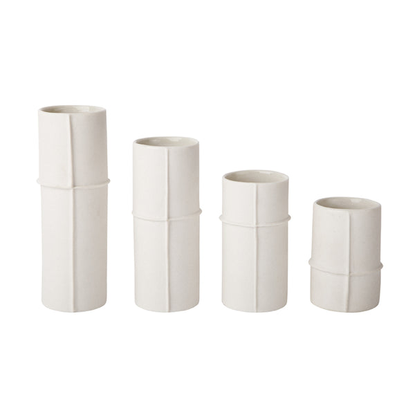 Zakkia Bud Vase Set of 4 - Raw