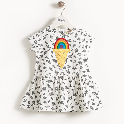 CALLOW Rainbow Ice Applique Dress by The Bonnie Mob
