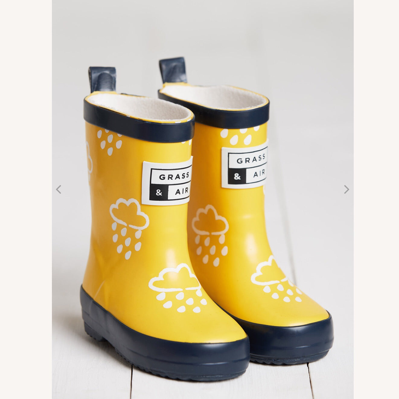 Mini Adventure Yellow Wellies by Grass & Air