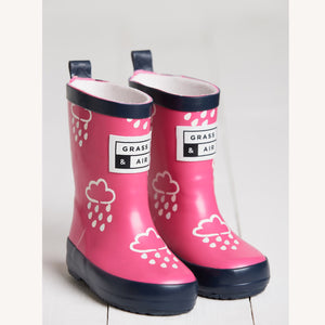 Mini Adventure Pink Wellies by Grass & Air