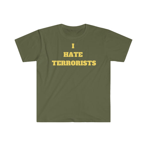 I HATE TERRORISTS - Men's Fitted Short Sleeve Tee