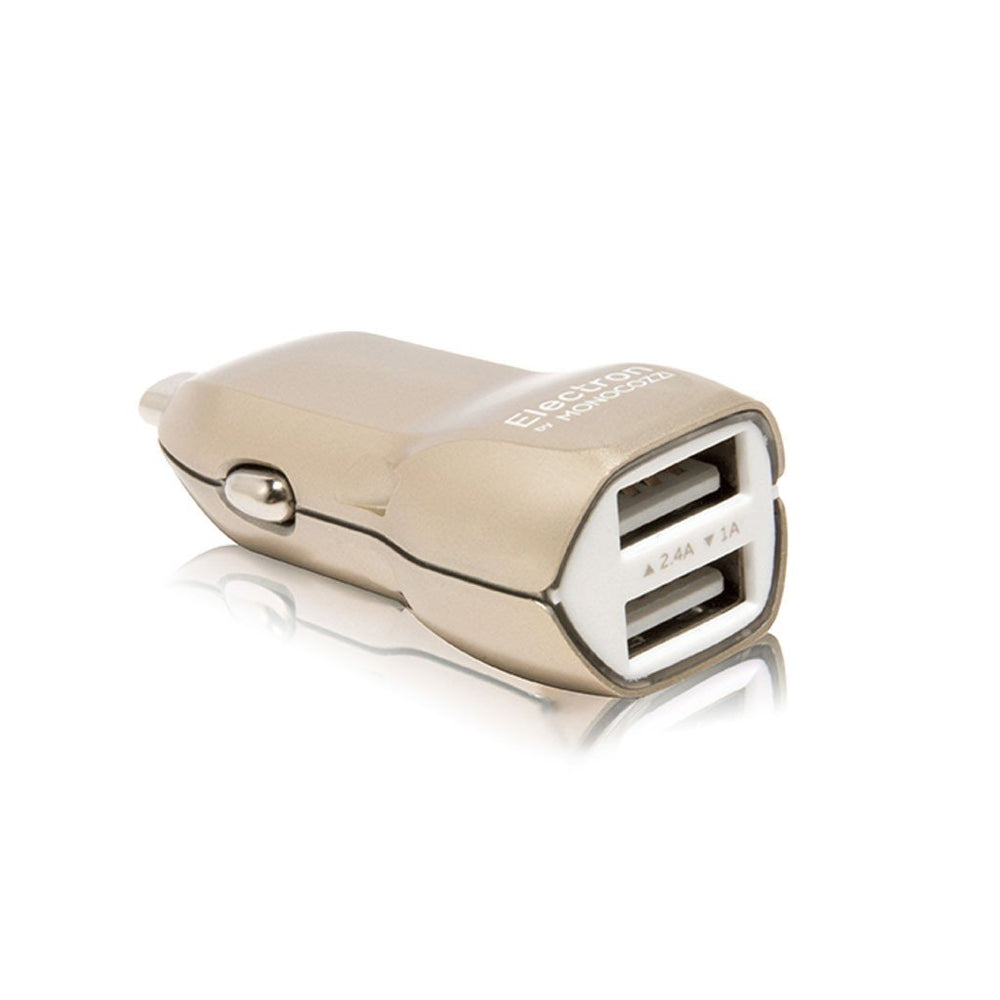 AUTOMOTIVE | ORE 3.4A Dual USB Car Charger - Gold