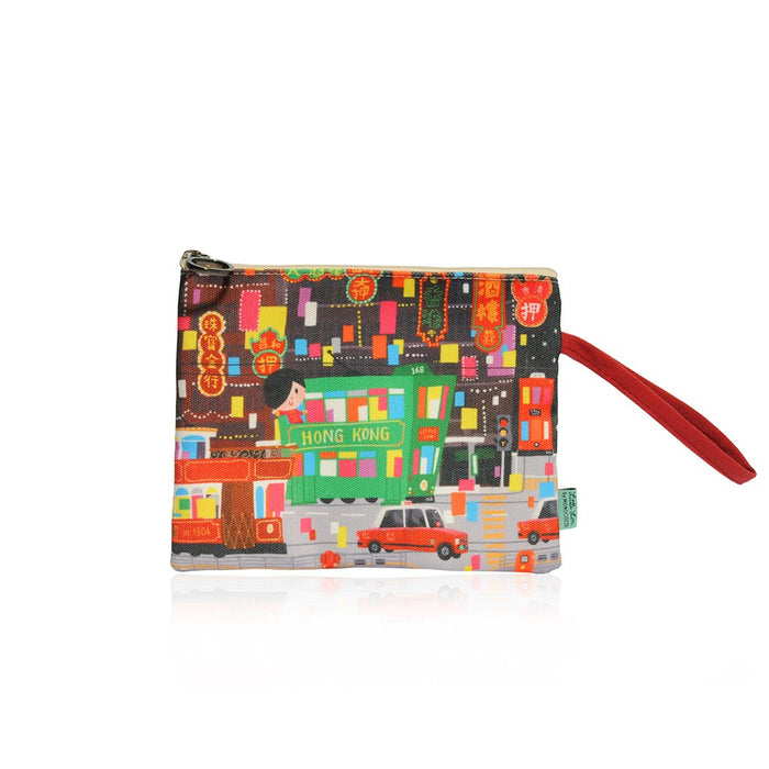 Little Lon x MONOCOZZI | A6 Canvas Zipper Pouch - Happy Store