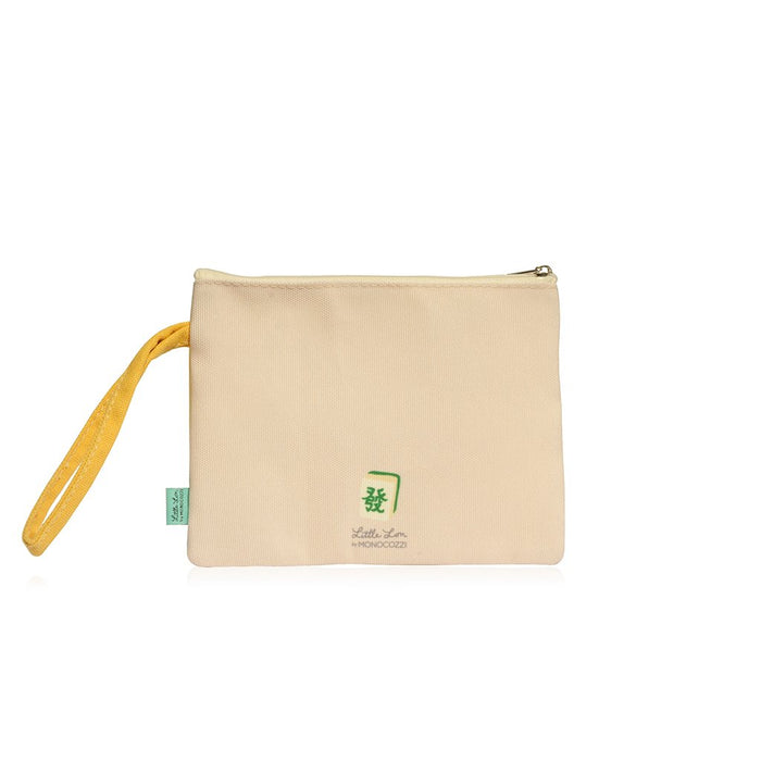 Little Lon x MONOCOZZI | A6 Canvas Zipper Pouch - Yum Cha
