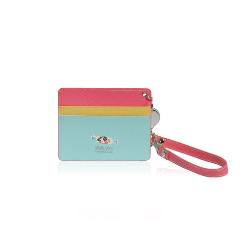Little Lon x MONOCOZZI | Name Card Holder with Retractable Strap - Ice Cream