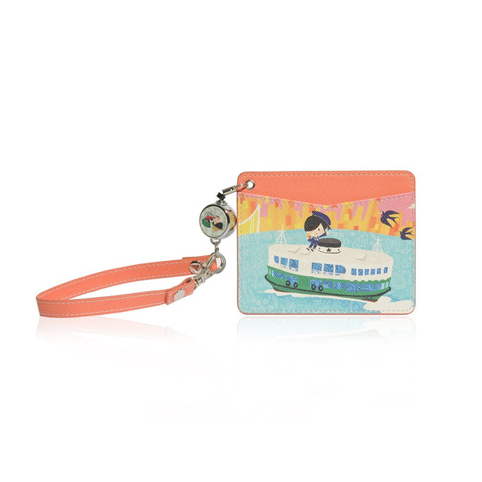Little Lonx MONOCOZZI | Name Card Holder with Retractable Strap - Hong Kong Tram
