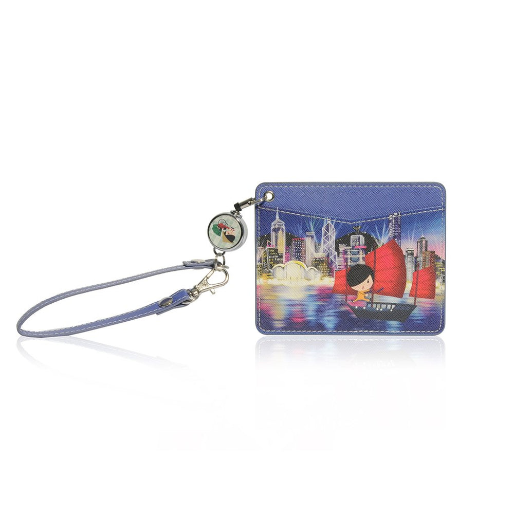 Little Lon x MONOCOZZI | Name Card Holder with Retractable Strap - Night View