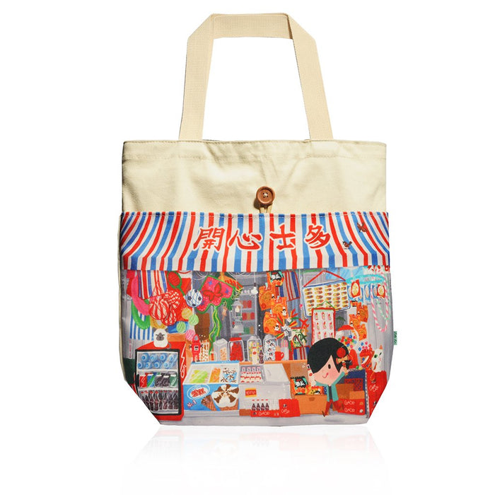 Little Lon x MONOCOZZI | Canvas Tote Bag - Yum Cha