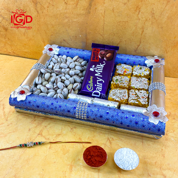 Dairy Milk With Sweets & Dry Fruits