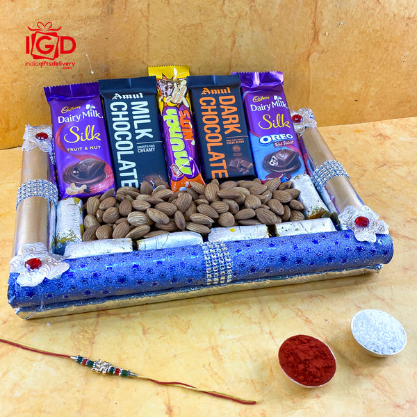 Assorted Chocolates With Almonds & Kaju Pista Roll