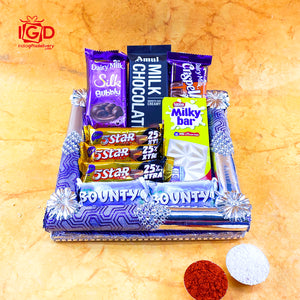 Delightful Chocolates Hamper In Square Tray