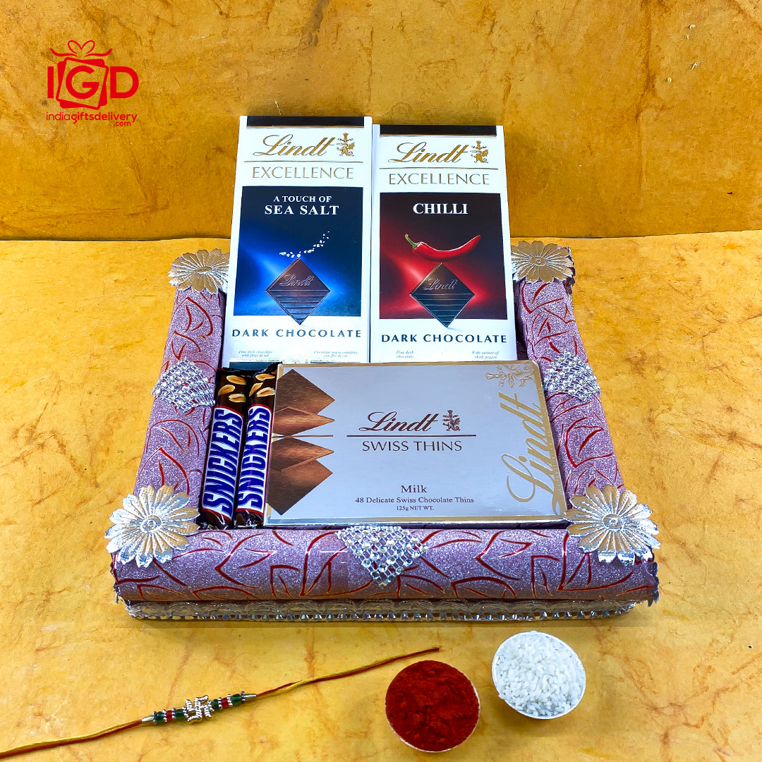 Lindt Chocolates Hamper In Fancy Tray