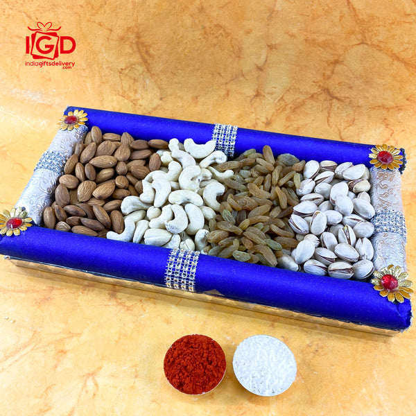 Dry Fruits In Fancy Tray