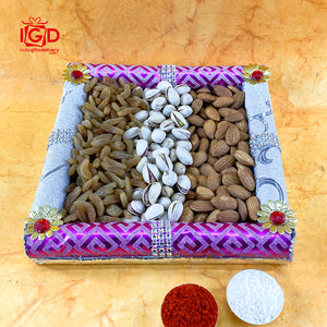 Dry Fruits In Rectangle Tray