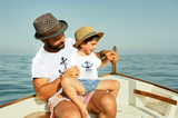 Captain Daddy First Mate Father and Son Shirts Matching Cruise Gift