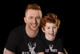 Big Little Buck Father Son Shirts Christmas Dad and Boy Gift