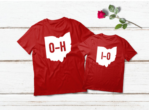 Ohio State Shirts Matching Outfits Father and Son Toddler Red