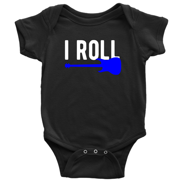 Father Son Shirts Gifts for Dad I Rock I Roll -Baby Bodysuit