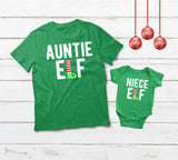 Aunt and Baby Matching Outfits Elf Christmas Gifts Shirts