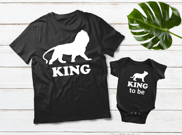King Father Son Shirts King to Be Matching Gift