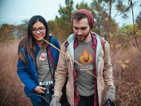 Camping Couple Shirts Matching Campfire and Marshmallow
