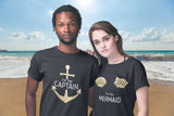 Cruise Couple Shirts His and Hers Captain Mermaid Nautical Gift