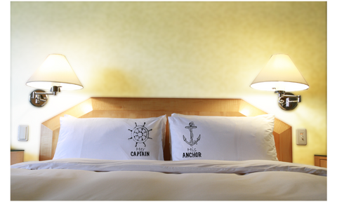 Cruise Pillowcases for Couples Her Captain His Anchor Gift
