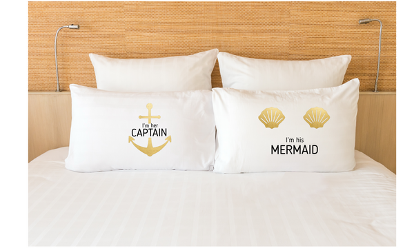 Couple Pillowcases His Her Cruising Gift Cruise Matching Pillow Cover