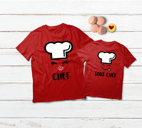 Mother Daughter Chef Matching Shirts Mommy and Me Outfits