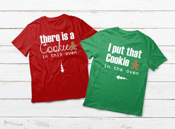 Pregnancy Announcement Couples Matching Shirts Christmas Gift