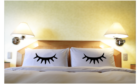 Lashes Pillowcases Eye Lash Matching Pillow Cover for Couple