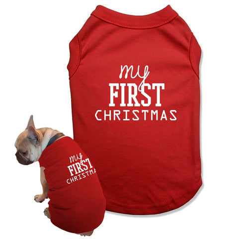 T Shirt for a Dog Mom Shirts Matching Pajamas with Dog Outfit for Christmas