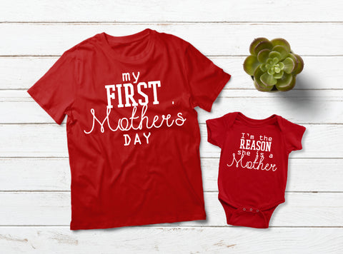 Mommy and Me Outfits First Mother's Day Shirt