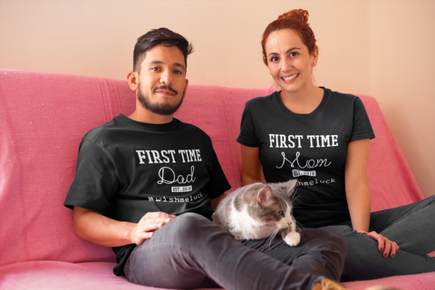 New Dad and Mom Gift Couples Shirts for New Parents