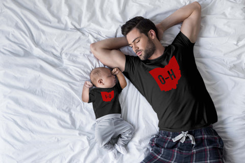 Ohio State Shirts Matching Outfits HO IO Baby Apparel Black