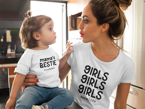 Mommy and Me Outfits Girls Mama Mother Daughter Shirts